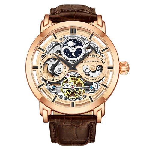 ストゥーリングオリジナル/Stuhrling Original/腕時計/Legacy/Anatol 371/371.03/メンズ/オートマチック/デュアルタイム/AM/PMインジケータ/ローズゴールド