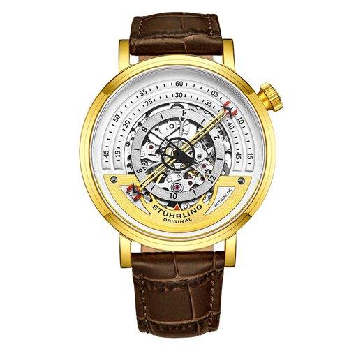 ストゥーリングオリジナル/Stuhrling Original/腕時計/Legacy/464/464.02/メンズ/オートマチック/CONCENTRIC RINGS/ゴールド