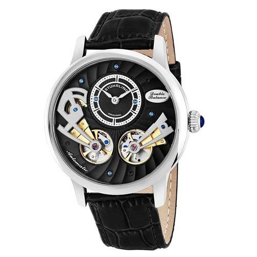 ストゥーリングオリジナル/Stuhrling Original/腕時計/Legacy/Sagittarian 740/740.02/メンズ/オートマチック/ダブルオープンハート/ブラック