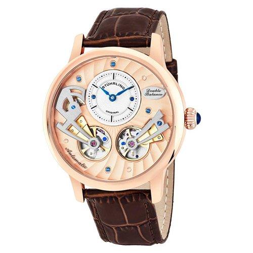 ストゥーリングオリジナル/Stuhrling Original/腕時計/Legacy/Sagittarian 740/740.03/メンズ/オートマチック/ダブルオープンハート/ローズゴールド