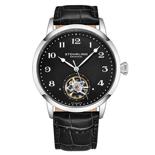 ストゥーリングオリジナル/Stuhrling Original/腕時計/Legacy/Perennial 781/781.02/メンズ/オートマチック/オープンハート/ブラック