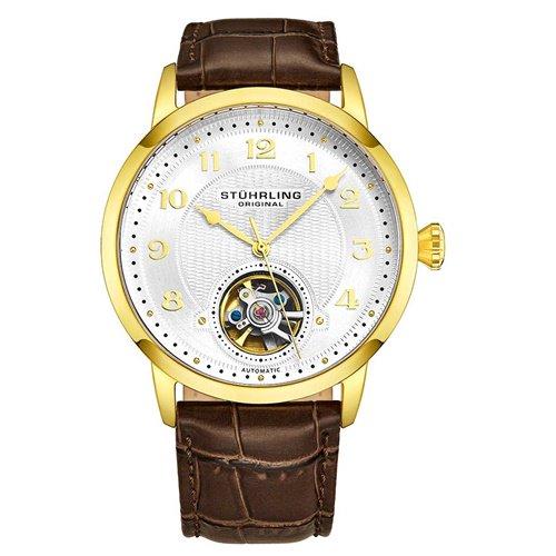 ストゥーリングオリジナル/Stuhrling Original/腕時計/Legacy/Perennial 781/781.03/メンズ/オートマチック/オープンハート/ゴールド
