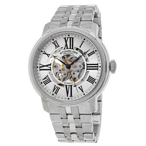 ストゥーリングオリジナル/Stuhrling Original/腕時計/Legacy/Atrium 812/812.01/メンズ/オートマチック/スケルトン/シルバー