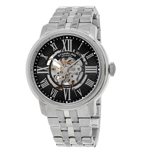 ストゥーリングオリジナル/Stuhrling Original/腕時計/Legacy/Atrium 812/812.02/メンズ/オートマチック/スケルトン/ブラック