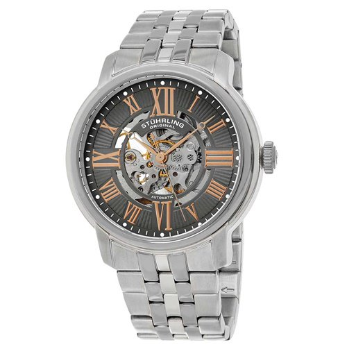 ストゥーリングオリジナル/Stuhrling Original/腕時計/Legacy/Atrium 812/812.03/メンズ/オートマチック/スケルトン/グレー