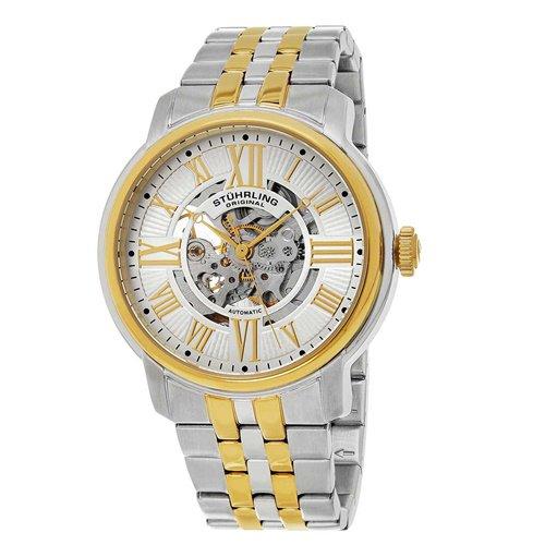 ストゥーリングオリジナル/Stuhrling Original/腕時計/Legacy/Atrium 812/812.04/メンズ/オートマチック/スケルトン/ツートーン