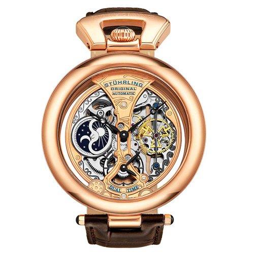ストゥーリングオリジナル/Stuhrling Original/腕時計/Legacy/Emperor's Grandeur 127A/127A.334553/メンズ/オートマチック/ローズゴールド