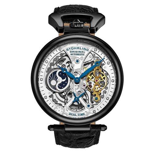 ストゥーリングオリジナル/Stuhrling Original/腕時計/Legacy/Emperor's Grand DT 127A2/127A2.33F52/メンズ/オートマチック/ダークグレー
