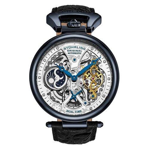 ストゥーリングオリジナル/Stuhrling Original/腕時計/Legacy/Emperor's Grand DT 127A2/127A2.33X52/メンズ/オートマチック/ブラック
