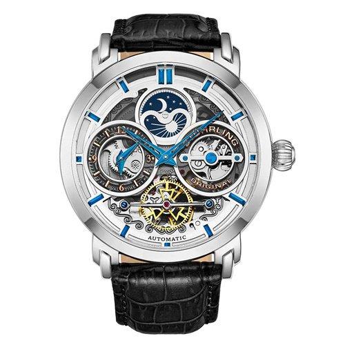 ストゥーリングオリジナル/Stuhrling Original/腕時計/Legacy/Luciano 371A/371A.01/メンズ/オートマチック/デュアルタイム/シルバー