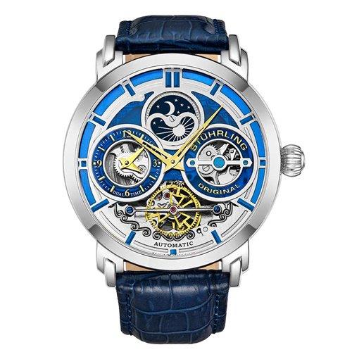 ストゥーリングオリジナル/Stuhrling Original/腕時計/Legacy/Luciano 371A/371A.02/メンズ/オートマチック/デュアルタイム/ブルー
