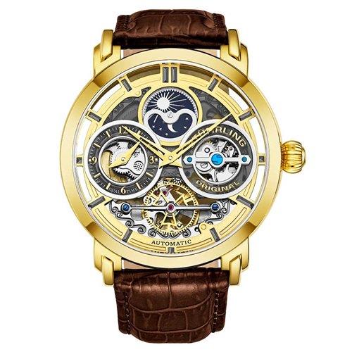 ストゥーリングオリジナル/Stuhrling Original/腕時計/Legacy/Luciano 371A/371A.03/メンズ/オートマチック/デュアルタイム/ゴールド