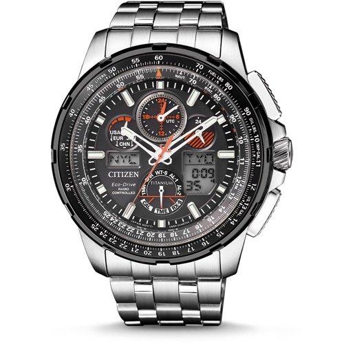 シチズン/CITIZEN/腕時計/プロマスター/スカイホーク/JY8069-88E/メンズ/電波時計/スライドルールベゼル/ワールドタイム/チタン