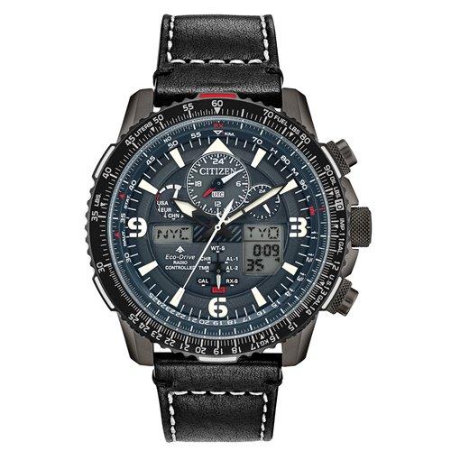 シチズン/CITIZEN/腕時計/プロマスター/スカイホーク/JY8077-04H/メンズ/電波時計/スライドルールベゼル/ワールドタイム/ブルー