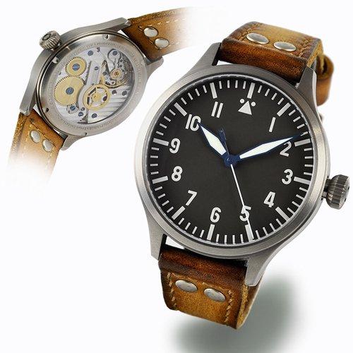 スタインハート/Steinhart/腕時計/NAV B-UHR 44 TITAN A-TYPE CENTRAL SECOND/メンズ/スイスメイドオートマチック
