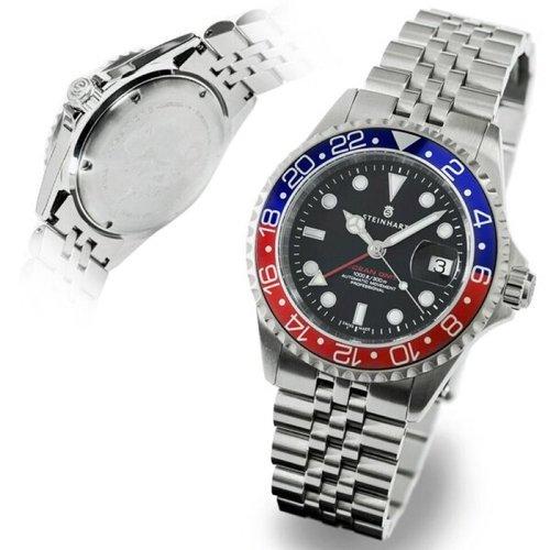 スタインハート/Steinhart/腕時計/オーシャン/OCEAN 1 GMT BLUE/RED 2/メンズ/スイスメイドオートマチック/ブラック