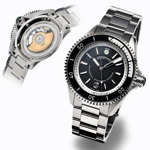 スタインハート/Steinhart/腕時計/オーシャン/OCEAN 2 PREMIUM BLACK/メンズ/スイスメイドオートマチック/デイトカレンダー