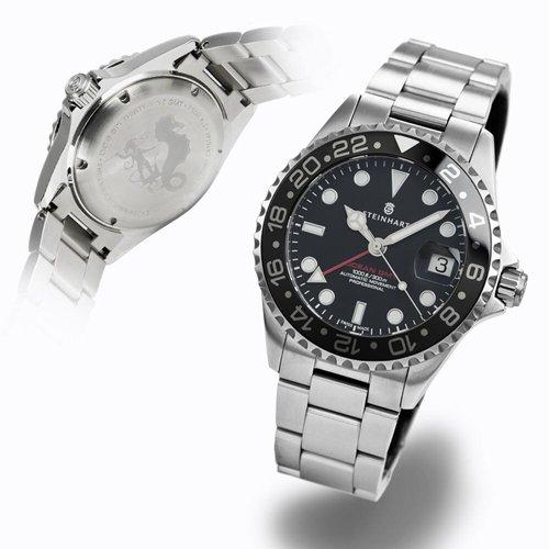 スタインハート/Steinhart/腕時計/オーシャン/ OCEAN ONE 39 GMT BLACK CERAMIC/メンズ/スイスメイドオートマチック/セラミックベゼル