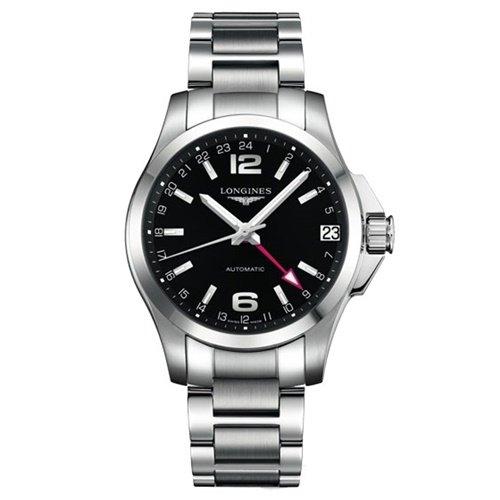 ロンジン/Longines/腕時計/Conquest /コンクエスト/L3.687.4.56.6/オートマチック/スイスメイド/GMT/デイトカレンダー/ブラック
