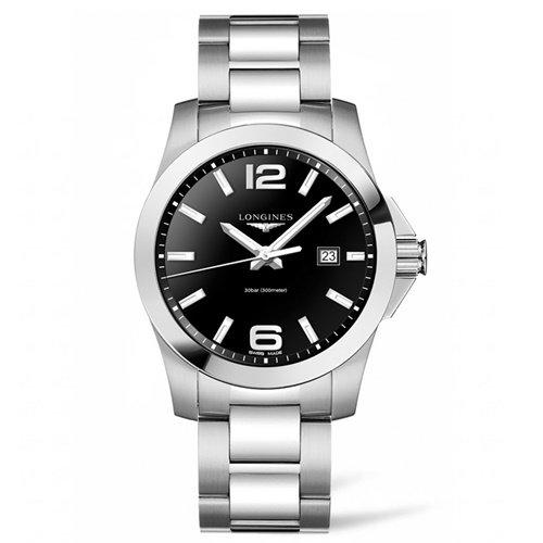 ロンジン/Longines/腕時計/Conquest/コンクエスト/L37604566/クォーツ/スイスメイド/デイトカレンダー/ブラック