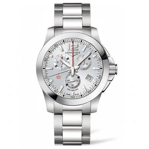 ロンジン/Longines/腕時計/Conquest/コンクエスト/L38004766/メンズ/クォーツ/スイスメイド/クロノグラフ/デイトカレンダー/シルバー