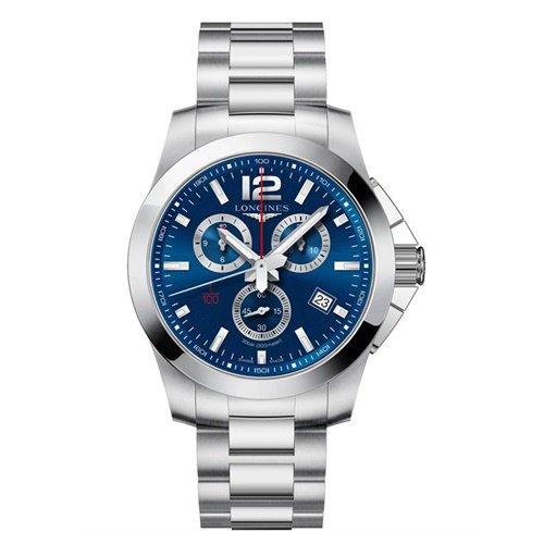 ロンジン/Longines/腕時計/Conquest/コンクエスト/L38004966/メンズ/クォーツ/スイスメイド/クロノグラフ/デイトカレンダー/ブルー