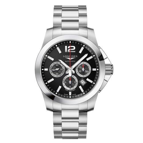 ロンジン/Longines/腕時計/Conquest/コンクエスト/L38014566/メンズ/オートマチック/スイスメイド/クロノグラフ/デイトカレンダー/ブラック