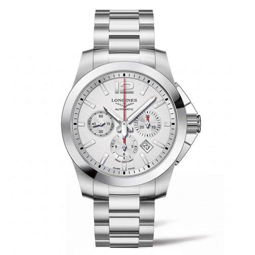ロンジン/Longines/腕時計/Conquest/コンクエスト/L38014766/メンズ/オートマチック/スイスメイド/クロノグラフ/デイトカレンダー/シルバー