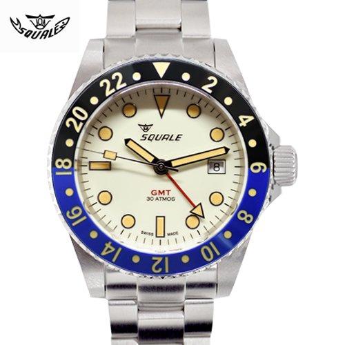 スクワーレ/Squale/時計/1545-MAI/300M防水/セラミックベゼル/オートマチック/スイスメイド/ダイバーズ/ベージュ