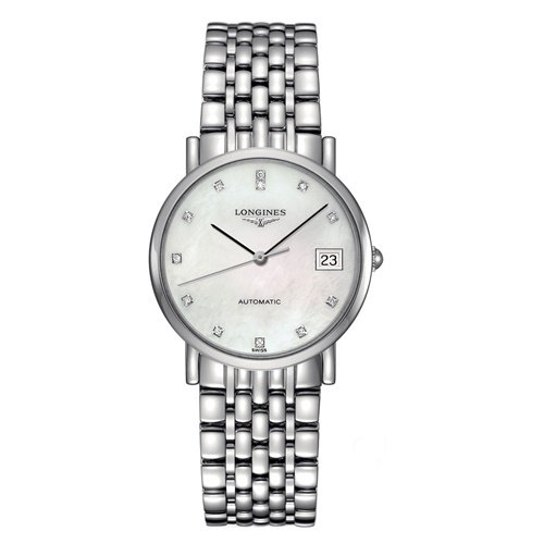 ロンジン/Longines/腕時計/Elegant/エレガント/L4.809.4.87.6/レディース/オートマチック/スイスメイド/デイトカレンダー/ダイヤモンド/MOP
