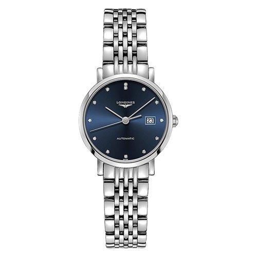 ロンジン/Longines/腕時計/Elegant/エレガント/L43104976/レディース/オートマチック/スイスメイド/デイトカレンダー/ダイヤモンド/ブルー