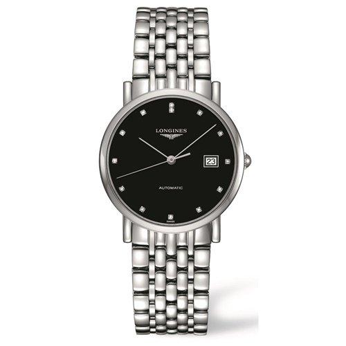 ロンジン/Longines/腕時計/Elegant/エレガント/L48094576/レディース/オートマチック/スイスメイド/デイトカレンダー/ダイヤモンド/ブラック