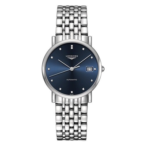 ロンジン/Longines/腕時計/Elegant/エレガント/L48094976/レディース/オートマチック/スイスメイド/デイトカレンダー/ダイヤモンド/ブルー