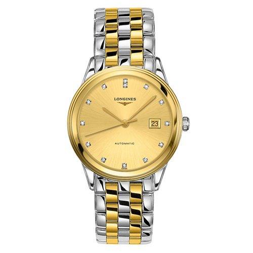 ロンジン/Longines/腕時計/Flagship/フラッグシップ/L49743377/メンズ/オートマチック/スイスメイド/デイト/ダイヤモンド/シャンパンゴールド