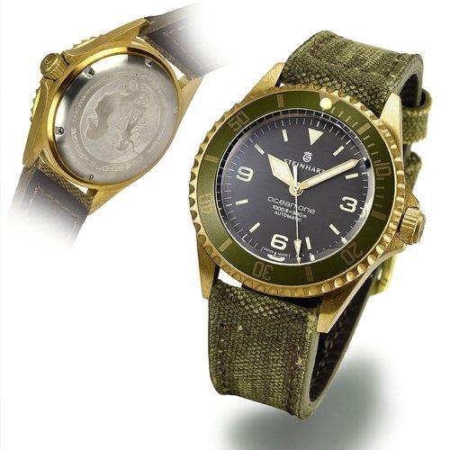 スタインハート/Steinhart/腕時計/オーシャン/OCEAN 1 BRONZE GREEN/ダイバーズウォッチ/メンズ/スイスメイドオートマチック