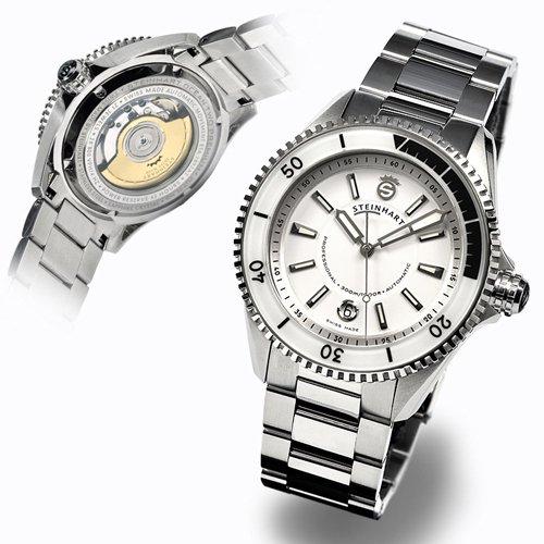 スタインハート/Steinhart/腕時計/オーシャン/OCEAN 2 PREMIUM WHITE/メンズ/スイスメイドオートマチック/デイトカレンダー