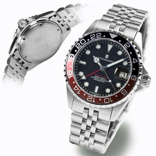スタインハート/Steinhart/腕時計/オーシャン/OCEAN 1 GMT BLACK/RED 2/メンズ/スイスメイドオートマチック/ブラック