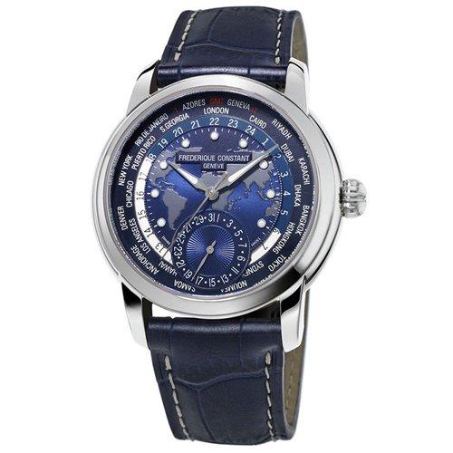 フレデリック・コンスタント/FREDERIQUE CONSTANT/腕時計/マニュファクチュール/ワールドタイマー/FC-718NWM4H6/ネイビー/ネイビーレザーベルト