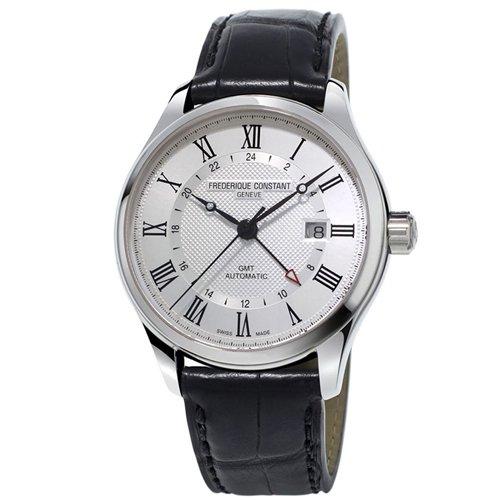 フレデリック・コンスタント/FREDERIQUE CONSTANT/腕時計/クラシック/オートマチック GMT/FC-350MC5B6/シルバー/ブラックレザーベルト
