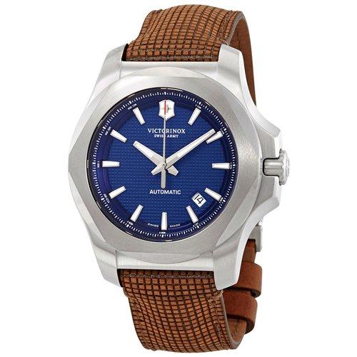 ビクトリノックス/VICTORINOX/腕時計/INOX/オートマティック/241834/200m防水/ブルー×ブラウンレザー