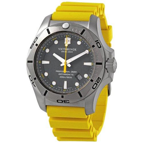 ビクトリノックス/VICTORINOX/腕時計/INOX/プロフェッショナルダイバー/241844/200m防水/グレー×イエローラバー