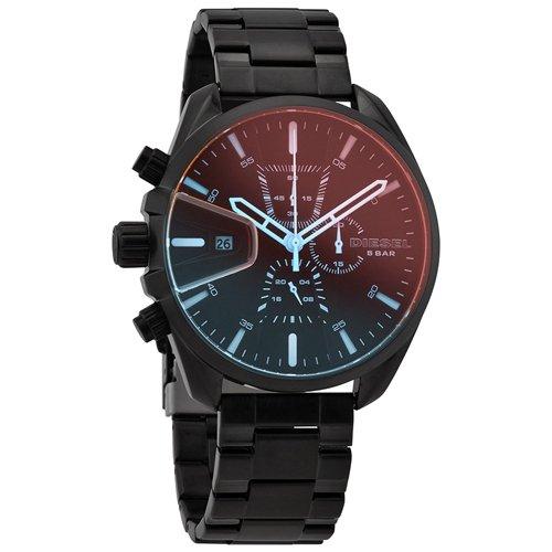 ディーゼル/Diesel/腕時計/MS9/メンズ/DZ4489/クォーツ/クロノグラフ/デイトカレンダー/オールブラック×偏光クリスタル
