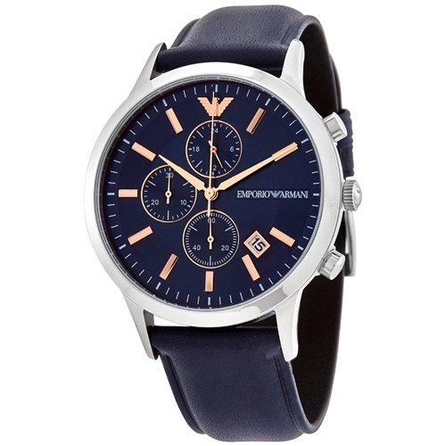 エンポリオアルマーニ/Emporio Armani/腕時計/メンズ/Renato/レナト/AR11216/クォーツ/クロノグラフ/ブルー×ブルー