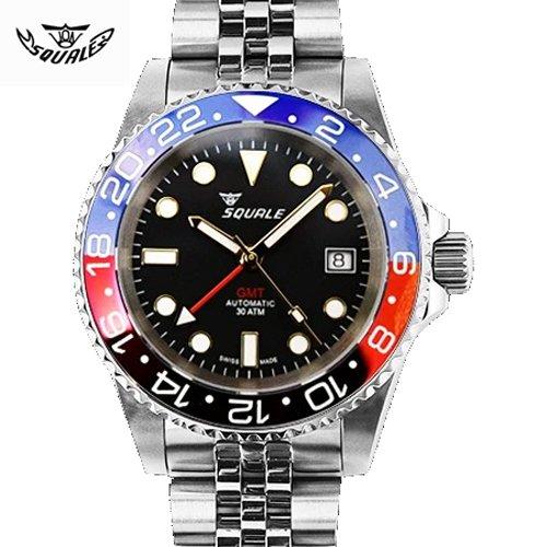 スクワーレ/Squale/時計/1545-GBRC/GMT/300M防水/セラミックベゼル/オートマチック/スイスメイド/ダイバーズ/ブラック