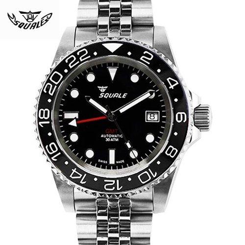 スクワーレ/Squale/時計/1545-BGC/300M防水/GMT/オートマチック/スイスメイド/ダイバーズ/ブラック/セラミックべゼル