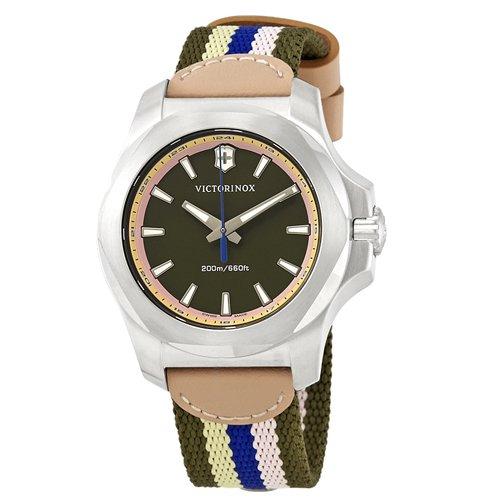 ビクトリノックス/VICTORINOX/腕時計/レディース/INOX/INOX V/241809/200m防水/オリーブブラウン×ナイロンストラップ