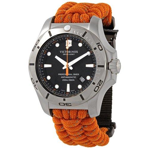 ビクトリノックス/VICTORINOX/腕時計/INOX/プロフェッショナルダイバー/241845/200m防水/ブラック×オレンジ