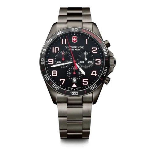 ビクトリノックス/VICTORINOX/腕時計/フィールドフォース/FieldForce/メンズ腕時計/クロノグラフ/241890/100m防水/ブラック×ブラック