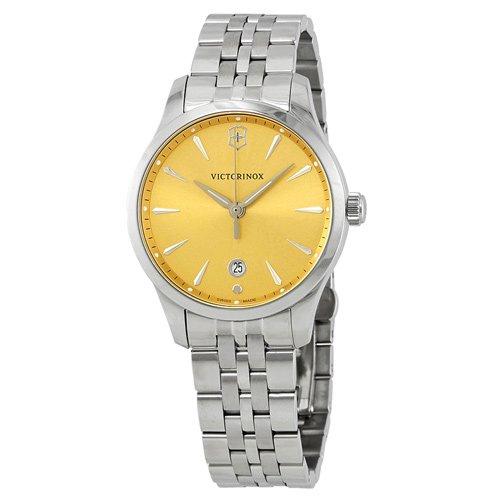 ビクトリノックス/VICTORINOX/腕時計/レディース/クロノグラフ/Alliance/241829/100m防水/シャンパン×シルバー