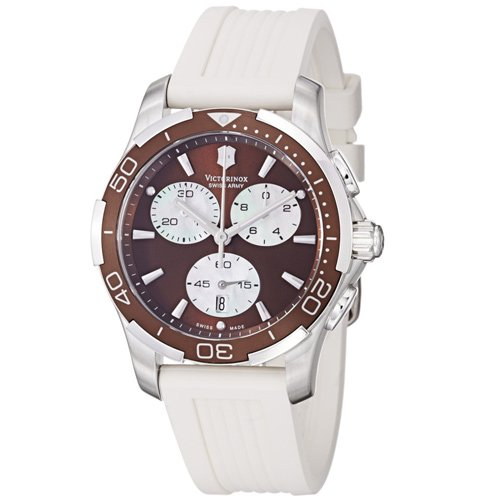 ビクトリノックス/VICTORINOX/腕時計/レディース/クロノグラフ/Alliance/251503/100m防水/ブラウン×ホワイトラバー